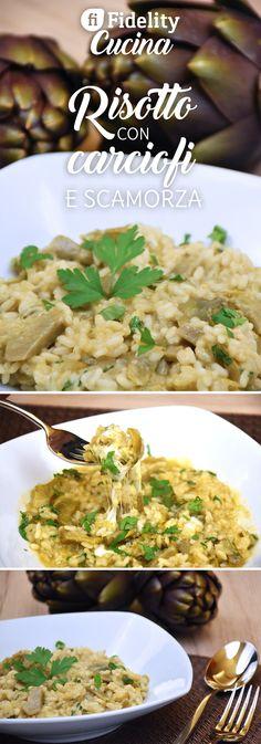 Il risotto con carciofi e scamorza è un primo piatto semplice ma originale al tempo stesso e con un'anima filante che incuriosirà tutti. Ecco la #videoricetta