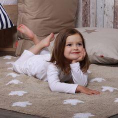 Tapis en coton étoiles blanches Stars (2 coloris) Lorena Canals : Decoclico