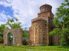 Byzantine-Norman Basilica of S. Giovanni Theristys. Bivongi. Calabria. Italy.