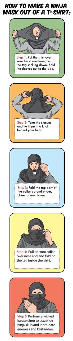 how to make a ninja mask with a shirt - YES :D