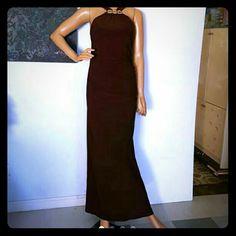 Size medium halter brown diamond dress Size medium excellent condition rober Dresses Maxi