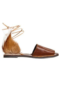 Leather Springbok Congo Sandal by Brother Vellies. Handcrafted in South Africa from natural materials.