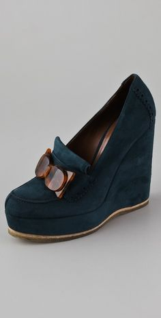 If you're going to do a loafer....it might as well be a Jill Stuart Wedge loafer.