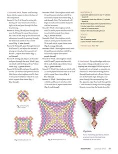 Beadwork June/July 2017 (p Designer: Materials: delica, 3 mm bicone Seed Bead Patterns, Peyote Patterns, Jewelry Patterns, Beading Patterns, Jewelry Making Tutorials, Beading Tutorials, Seed Bead Jewelry, Beaded Jewelry, Crystals