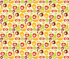 Funny Fruit fabric by bora on Spoonflower - custom fabric
