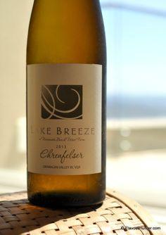 Lake Breeze Ehrenfelser from Naramata in the Okanagan Valley, British Columbia British Columbia, Breeze, Wines, Canada, Bottle, Flask, Jars