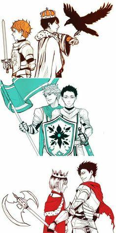Draw a King x Knight AU!!!