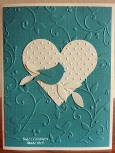 Good two-color card and like the silhouette and texture of the embossing.