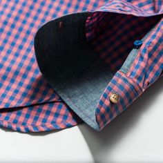 Pink and blue gingham - great colors for Spring #androgynousfashion #tomboy #tomboi #menswearinspired #dapper #kirrinfinch #sweetbuttonup #style #womeninmenswear #shirt #buttonup #buttondown #gingham