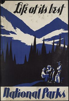 Cool national park travel poster