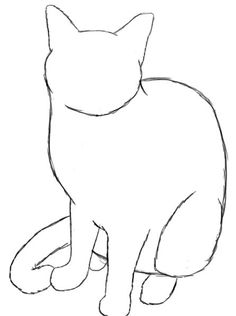 How to sketch a cat easy drawing of a cat sketch cat face Cat Sketch, Drawing Sketches, Sketching, Animal Sketches, Animal Drawings, Drawings Of Cats, Learn To Draw, How To Draw Cats, How To Draw Animals