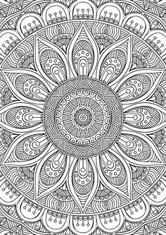 Coloring Book for Me and Mandala Unique Didzioji Mandalu Knyga Coloring Pages for Adults Free Printables Mandala Design, Mandala Art, Mandalas Painting, Mandalas Drawing, Mandala Coloring Pages, Coloring Book Pages, Printable Coloring Pages, Coloring Sheets, Zentangles