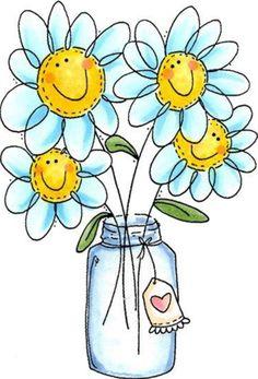 Daisies Smile Upon You - Whimsical - Floral/Garden - Rubber Stamps - Shop Doodle Drawings, Doodle Art, Art Carte, Illustration Blume, Flower Doodles, Bible Art, Watercolor Cards, Whimsical Art, Rock Art