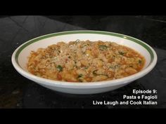 Episode 9: Pasta e Fagioli - YouTube Italian Cooking, Italian Recipes, Italian Foods, Fresh Garlic, Fresh Basil, San Marzano Tomatoes, Pasta E Fagioli, How To Dry Basil, Macaroni And Cheese
