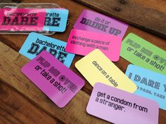 Bachelorette Party Game - Dare Cards - Bachelorette Party Pack, Hens Night Game, Bachelorette Kit, Final Fling, Bridal Shower Gift