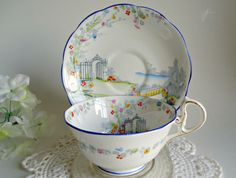 Royal Albert Teacup and Saucer Tea cup Bone China England by treasurecoveally on Etsy