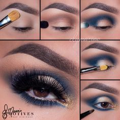 Enjoy this gorgeous and festive smokey eye by Motives Maven @ElyMarino.  It is perfect for any holiday party.