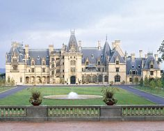 Biltmore House:  at more than 175,000 sq. ft. it is the largest house in America - Asheville, North Carolina