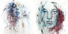 geometric portrait drawing - Google Search