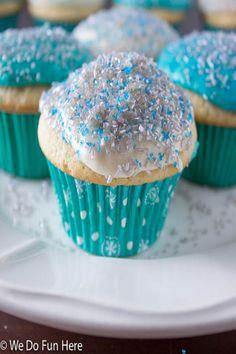 Homemade Vanilla Cupcakes with Vanilla Buttercream Frosting