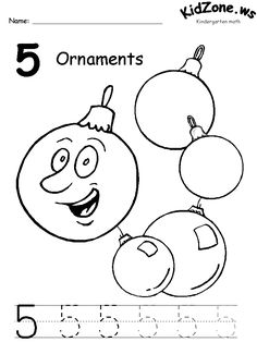 Math Printable Activity Worksheets Christmas Number Practice