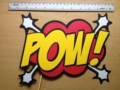 Printable Comic Photo Booth Props - Superhero Photo Booth - Action Bubbles - Superhero Words on Etsy, $3.25