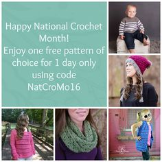 Crochet designer Michelle Ferguson celebrates National Crochet Month with a very limited-time freebie! | #NatCroMo #blogtour #crochet #freebie