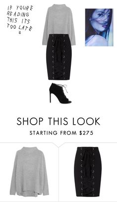 """""""Sans titre #7210"""" by ghilini-l-roquecoquille ❤ liked on Polyvore featuring Vince, Exclusive for Intermix and Yves Saint Laurent"""
