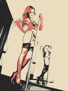 Erotic Art 200gsm poster  Pole Dancer sexy nude by CasemiroArts