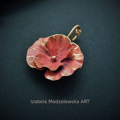 Copper Paint, Flower Pendant, Facebook Sign Up, Wire Wrapping, Belly Button Rings, Poppies, Polymer Clay, Handmade Jewelry, Earrings