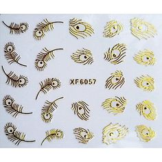 QINF 3D Phenix Feathers Design Hot Stamping Nail Art Stickers XF Series *** See this great product.