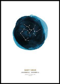 Sagittarius poster in der Gruppe Poster / Gold und Silber bei Desenio AB (8653)