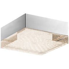 "Elan Gorve 10 1/4"" Wide Chrome LED Ceiling Light"