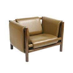"Joaquim Tenreiro, ""loose mantle armchair, 1969.      Pair of custom ""Loose Mantle Armchairs"""