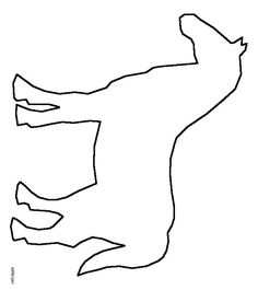 Giraffe head pattern. Use the printable outline for crafts