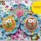Lovely Flowers With Owls Crochet Pattern - via @Craftsy