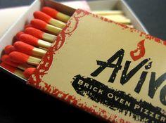 Avivo Pizzeria print design match box