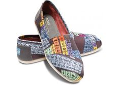 periodic table tom shoes - Google Search. These things are organic... I have a pair and I love them.
