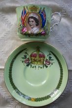 Queen Elizabeth Coronation Cup and Saucer - Aynsley
