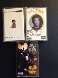 Wu Tang The 36 Chamber Notorious Rady To Die Dr. Dre The Chronic Rap 3 Cassettes