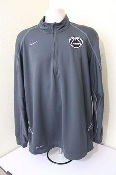 Nike dri fit EDGE men long sleeve (L) Large dark gray polyester /spandex EUC #Nike