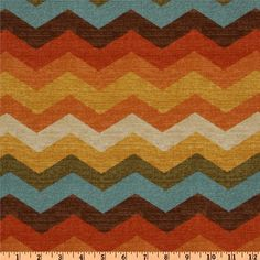Waverly Panama Wave Adobe from @fabricdotcom  Screen printed on cotton duck; this medium weight fabric is very versatile. This fabric is perfect for window treatments (draperies, valances, curtains, and swags), bed skirts, duvet covers, pillow shams, accent pillows, tote bags, aprons, slipcovers and upholstery. Colors include orange, rust, ivory, golden yellow, teal, brown and olive.