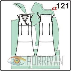 0ce8a14663423e1 Выкройка длинного платья с рукавами крылышками Sleeved Dress, Apron, Wings,  Templates Free,