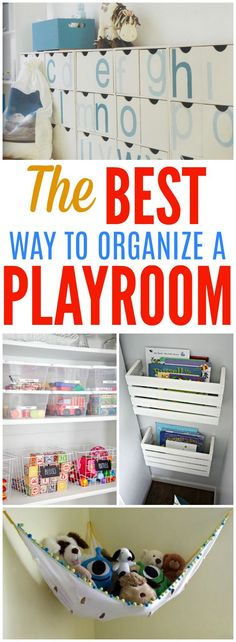 Playrooms can become cluttered and disorganized so easy! What can you do to keep your kids toys organized? Here are 10 of the best way to organize your kids playroom and store their toys!