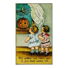 #Vintage pumpkin kids Halloween home decor poster - #giftideas for #kids #babies #children #gifts #giftidea