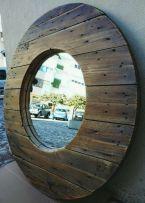 Espelho grande madeira rústico