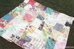 Easy DIY Patchwork Picnic or Beach Blanket from Fabric Scraps! | Wonder Forest: Style, Design, Life.
