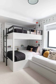 4 Reasons You Should Install Bunk Beds In Your Bedroom – Home Dcorz Kids Bedroom Designs, Room Design Bedroom, Bunk Bed Designs, Room Ideas Bedroom, Home Room Design, Kids Room Design, Bedroom Sets, Home Decor Bedroom, Large Bedroom
