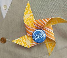 Love the team GROOM pin! - Confetti Events