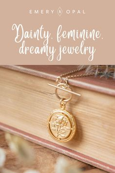 Feminine, Floral, Rose Toggle Necklace with a vintage flare! #rosenecklace #roses #daintyjewelry Best Friend Gifts, Gifts For Friends, Rose Necklace, Dainty Jewelry, Vintage Roses, Personalized Items, Floral, Delicate Jewelry, Pink Necklace
